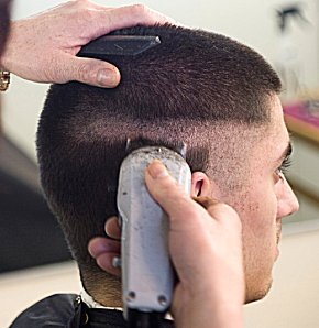 Military Haircut on Military Haircut    4 Vecchi In America